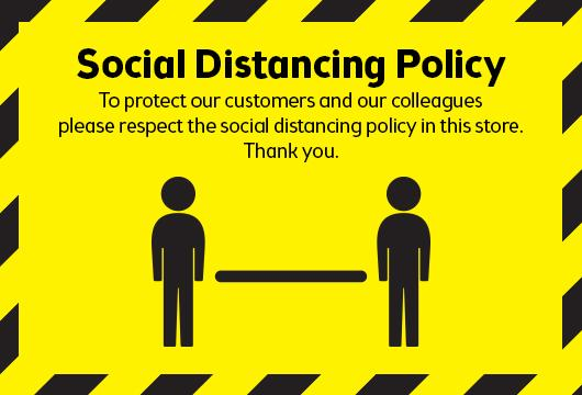 Social distancing measures in our stores