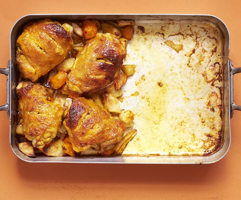 Middle Eastern Style Baked Chicken Thighs