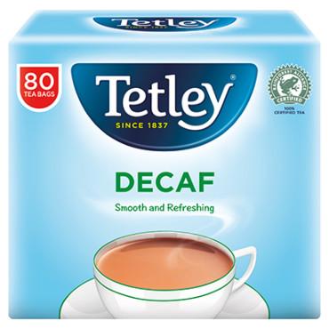 Tetley Decaf Tea Bags Soft Pack 80s