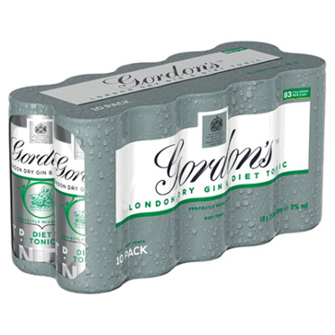 Gordons Special Dry London Gin And Diet Tonic Ready to Drink 10x250ml