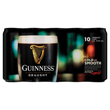 Guinness Draught Stout Beer 10x440ml